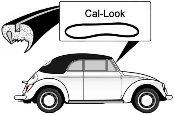 """Cal look"" Dichtung Windschutzscheibe Cabrio Bild 1"