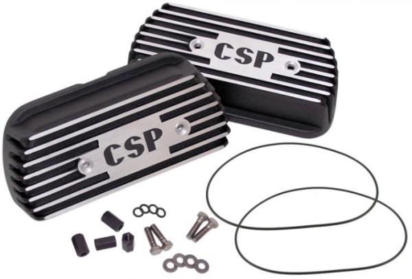 Ventildeckel Set CSP Langhub Schwarz Bild 1