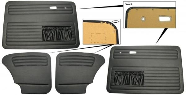 Türverkleidung Limousine schwarz komplett mit Taschen A-Qualität Bild 1