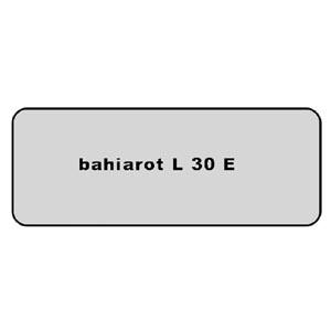 Farb-Code Aufkleber L 30E bahiarot Bild 1
