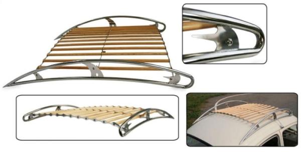 Dachgepäckträger Vintage Speed Edelstahl poliert Bild 1