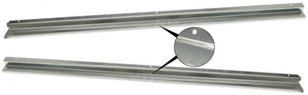 Schutzblech Türschwelle Edelstahl mit Profil Bild 1