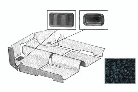 Cabrio Innenraum Teppich Set schwarz Bild 1