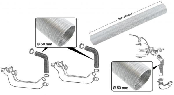 Heizschlauch / Luftfilterschlauch Aluminium Bild 1