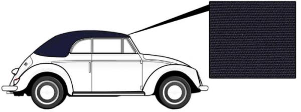Cabrio Verdeck Canvas blau 1966»7/72 Bild 1