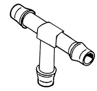 Verbindung Kraftstoffschlauch T-Stück Kunststoff Bild 1