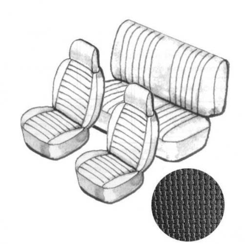 Cabrio Sitzbezug Set schwarz mit Kopfteil grobmaschig 8/73»7/76 Bild 1