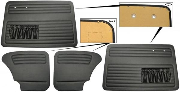 Türverkleidung Limousine schwarz komplett mit Taschen Bild 1