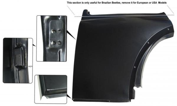 Reparaturblech Seitenteil hinten links unter Seitenfenster Bild 1
