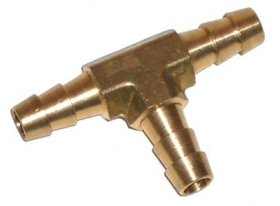 Verbindung Kraftstoffschlauch T-Stück Messing Bild 1