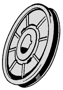 Riemenscheibe Kurbelwelle Chrom Bild 1