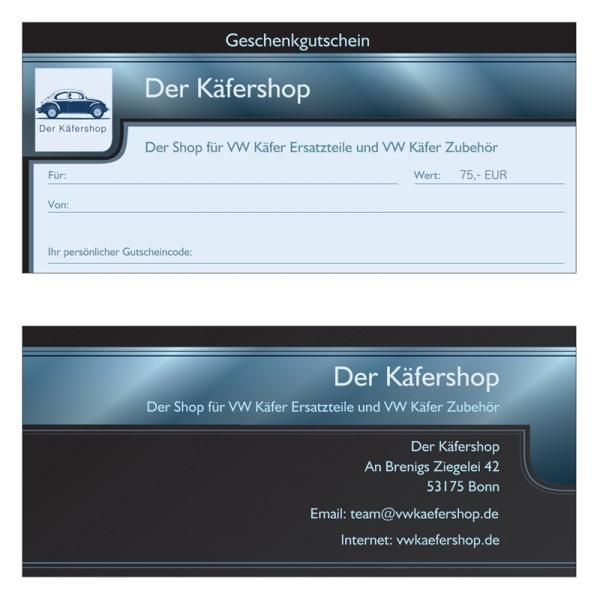 Käfershop Gutschein 75 Euro