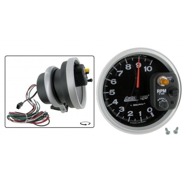 Drehzahlmesser Shift Light Schwarz / Weiß Bild 1