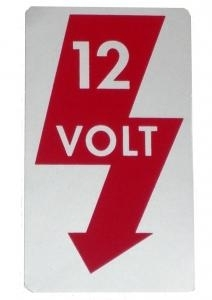 Aufkleber 12 Volt A-Säule Bild 1