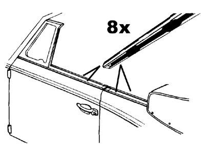 Zierleiste Seitenfenster Cabrio Bild 1