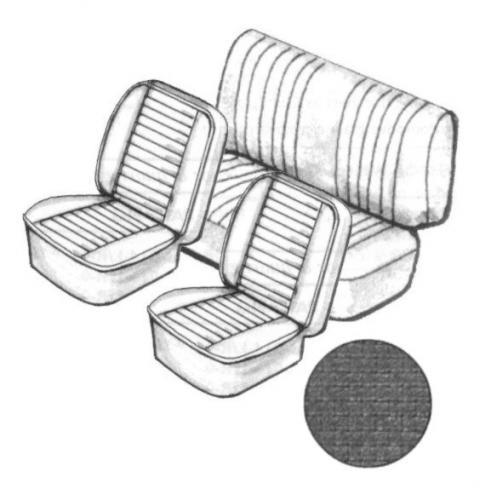 Cabrio Sitzbezug Set schwarz ohne Kopfteil feinmaschig 8/76» Bild 1