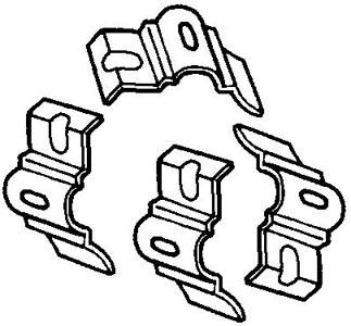 Befestigungen Stoßstangenhalter Standard Bild 1