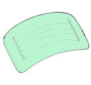 Heckscheibe grün getönt beheizt Bild 1
