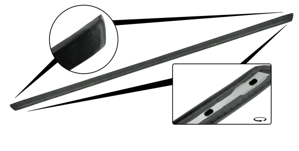 Rubber strip rear bumper 8/74»