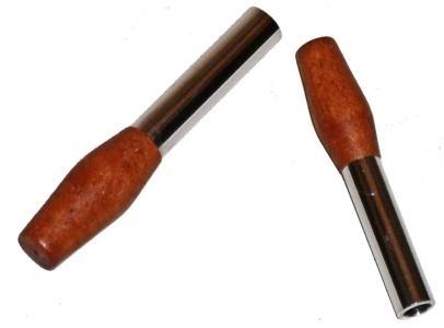 Türsicherungsknopf Walnussholz Bild 1