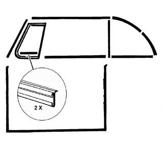 Dichtung Dreieckfenster Rahmen unten Cabrio Bild 1