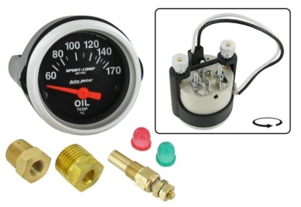 Öltemperaturanzeige mit Sensor 52mm Bild 1