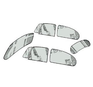 Scheibenset grau getönt Standard 11/03/53»7/57 Bild 1