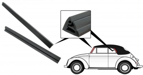Dichtungen Windschutzscheibe Seite Cabrio Bild 1
