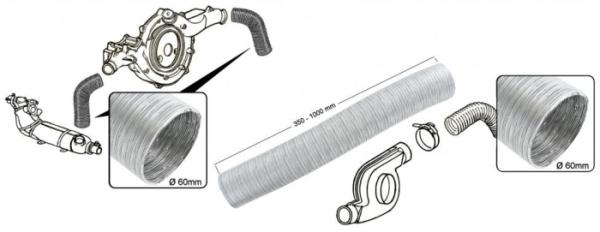 Aluminiumschlauch / Gebläseschlauch Bild 1