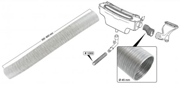 Verbindungsschlauch Lüfterkasten Aluminium Bild 1