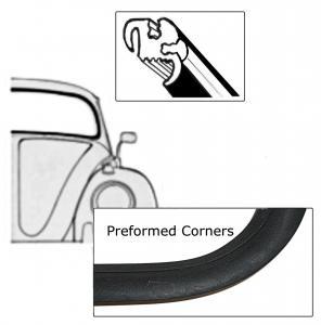 Dichtung Frontscheibe Deluxe Cabrio vorgeformt mit Zierleisten Profil Bild 1