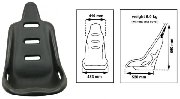 Sitz Poly hohe Rückenlehne Bild 1
