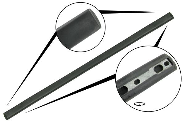 Rubber strip front bumper 3-piece