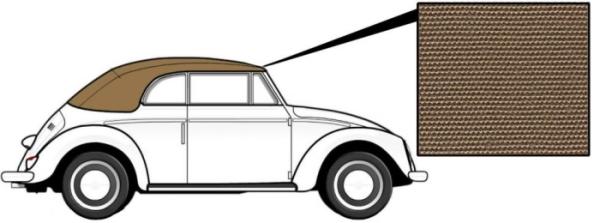 Cabrio Verdeck Canvas beige 8/62»1966 Bild 1
