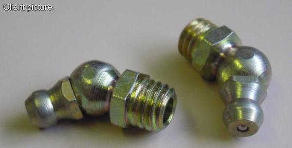 Druckschmierkopf - Fettnippel - Schmiernippel M8x1 - 45Grad Bild 1