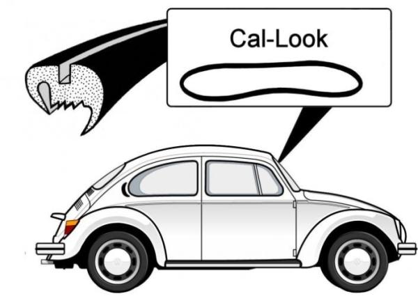 """""""Cal look"""" Dichtung Windschutzscheibe Bild 1"""