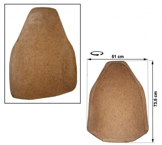 Polsterung Rückenlehne vorne mit fester Kopfstütze 8/72»7/73 Bild 1
