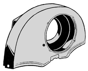Lüfterhaube ohne Heizverbindung Chrom Bild 1