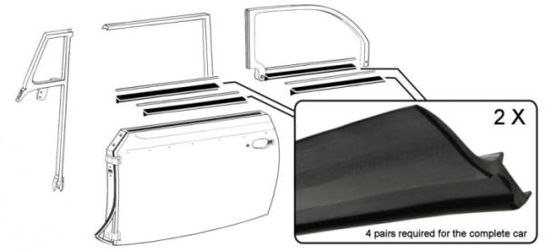 Fensterdichtungen vorne / hinten / innen / außen ohne Zierleiste Bild 1