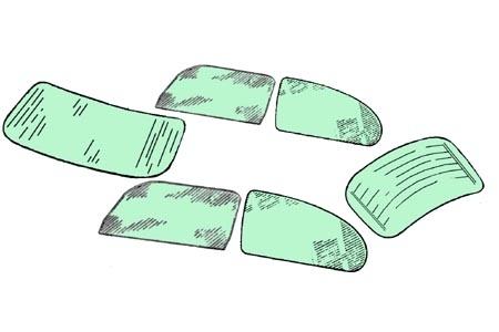 Scheibenset grün getönt One-Piece 1303 Bild 1
